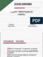Naponi i Deformacije Pri Uvijanju Stefan Veljkovic