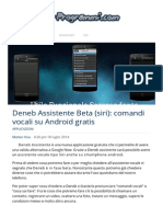 Assistente Vocale Siri Per Smartphone Tablet Android