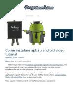 Come Installare Apk Su Android Video Guida Tutorial Italiano