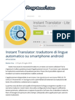 Instant Translator Traduttore Di Lingue Automatico App Android