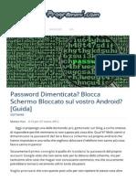 Password Dimenticata Android Blocca Schermo Bloccato Come Fare Per Sbloccarlo Galaxy S2
