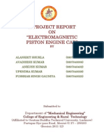 Electromagnetic Piston Engine Car