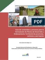 SENPLADES Guia Metodologia Planes Desarrollo Ordenamiento Territorial