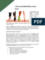 Importancia de La Actividad Física en Los Administradores