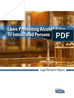 Laws prohibiting alcohol sales to intoxicated persons