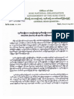 KNO/KNA (Burma) in Kawlgam tawh kisai apom dan.
