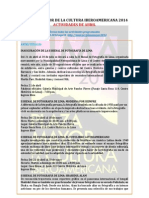 Agenda Plaza Mayor de Lima - Abril 2014