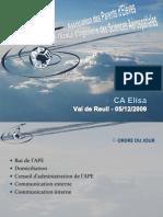 Présentation APE au CA Elisa du 05/12/2009 (v0)