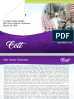 Cott Corporation (COTT) - BMO Capital Conference - 05.21.14-05.22.14
