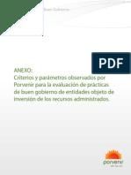 Politicas y Parametros Para La Evaluacion de Practicas Del Buen Gobierno
