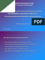 8. Procedimiento Concursal Preventivo