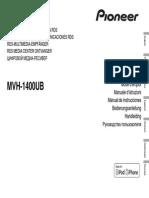 Pioneer MVH-1400UB Owner's Manual En Fr It Es de Nl Ru