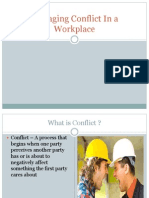 Managing Conflict @ WorkPlace