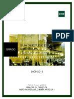 Guía II Con Cronograma. Historia de La Filosofía Antigua i