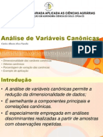 Analise de Variaveis Canonicas
