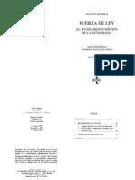 Jacques Derrida - Fuerza de Ley, Sobre El Fundamento Místico de La Autoridad