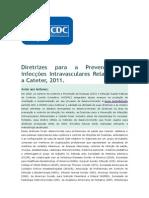 2011 Diretrizes Para a Prevenção de Infecções Intravasculares Relacionadas a Cateter