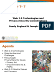 Web 2.0 Technologies and Privacy Security Considerations