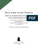 Jacob Boehme - De La Triple Vie de L'Homme