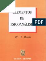 Elementos de Psicoanálisis [Wilfred Bion]