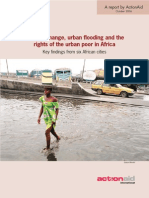 CC, Urban Flooding and the Rights AFrica