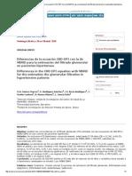 Diferencias de La Ecuación CKD-EPI Con La de MDRD