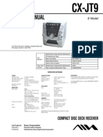 Aiwa Sony Manual de Serviço Cx-jt9 Jandui