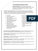 Tester Aviation Security Stakeholder Participation Act (S 1804) One-pager