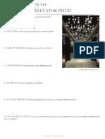 Interior Design Elevator Pitch Worksheet