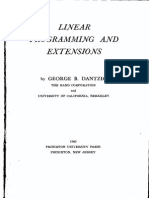 Dantzig - Linear Programming and Extensions