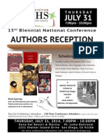 #FANHS2014 Authors' Reception 7/31