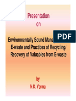 Verma Environmentally Sound Management of E-waste and Practices of Recycling