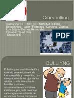 PRÁCTICA # 3, EL BULLYING Y EL CIBER BULLYING. JUAN FERNANDO CARDONA ZAPATA, LUIS IGUEL GOMEZ HERNANDEZ 8°E MODIFICADO.pptx