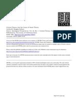 Critical Theory and Crisis of Social Theory KELLNER