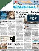 Periódico El Imparcial Página 1, 19 de Diciembre de 2012 Sección General. Primera plana.
