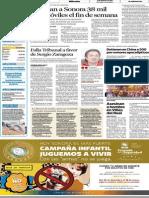 Periódico El Imparcial Página 2, 19 de Diciembre de 2012 Sección General.