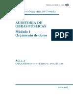 Auditoria de Obras Publicas ModuloAnalitico e Sintetico