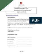 SIP Company Survey Form 09Julver.1