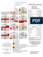 2014-2015 District Calendar