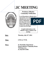St. Paul Predatory Offender meeting