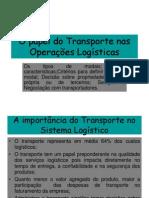 O Papel Do Transporte Nas Operações Logísticas