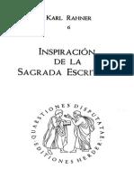 Rahner, Karl - Inspiracion de La Sagrada Escrituralector