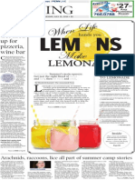 Living cover - Lemonade - The Patriot-News - July 15, 2014
