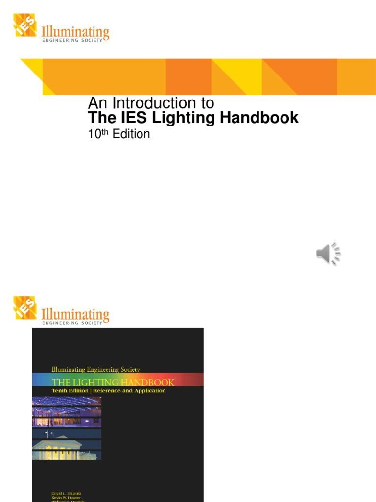 Ies lighting handbook pdf for Handbook of interior lighting design pdf