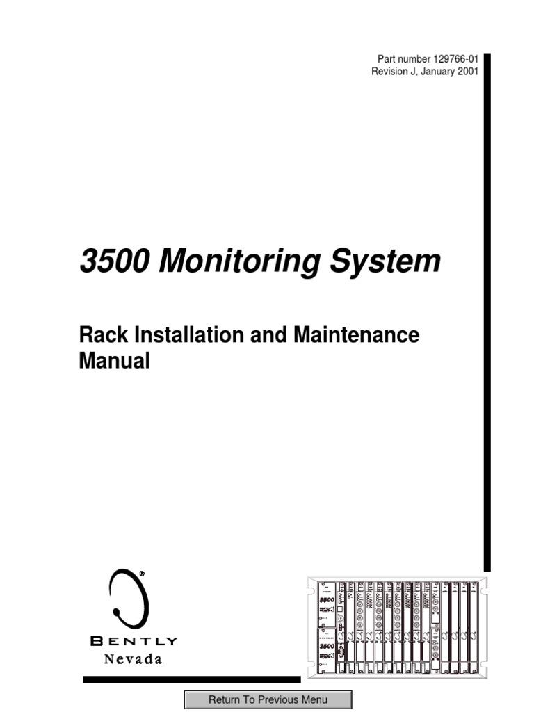 3500 Monitoring System Rack Installation and Maintenance Manu ... on bently nevada cable, bently nevada installation guide, bently nevada 3300 manual, eddy current sensor circuit diagram,