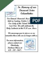 Memorial Mass October 2014