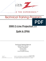 Lg Zenith C-line Zp94 95 Projection Tv Training Manual 2000 [Et]