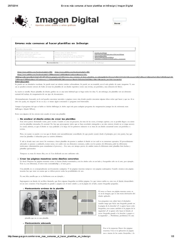 Errores Más Comunes Al Hacer Plantillas en InDesign _ Imagen Digital