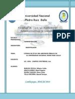Código de Ética Del Servidor Público de La Unprg Imprimir