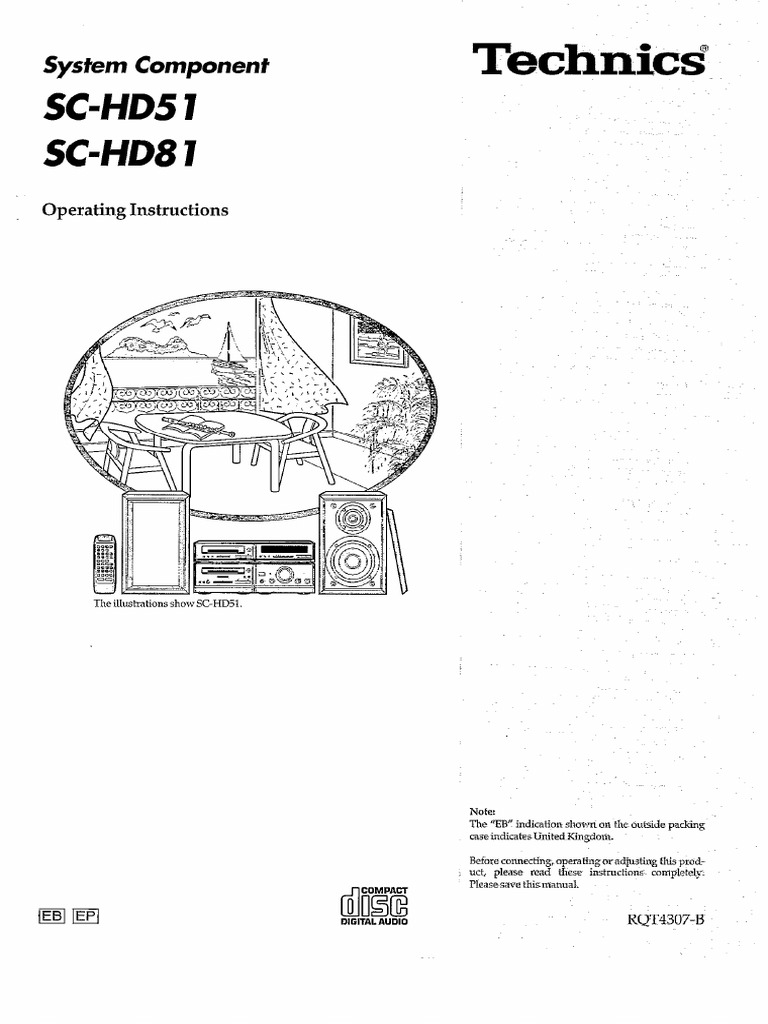 Technics SC-HD51 SC-HD81 User Manual